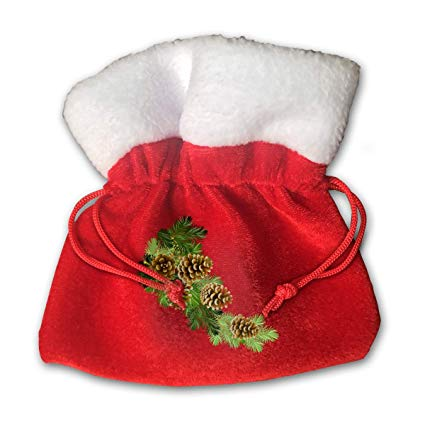 Christmas treat bag clipart clip library library Amazon.com: MNBVCX Pinecone Clipart Greenery Christmas Candy Bag ... clip library library