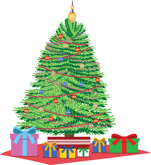 Clipart christmas tree with presents picture freeuse stock Christmas Tree With Presents Clip Art – Fun for Christmas picture freeuse stock
