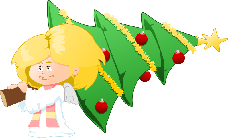 Christmas tree angel clipart picture freeuse stock Clipart - christmas tree carrying angel picture freeuse stock