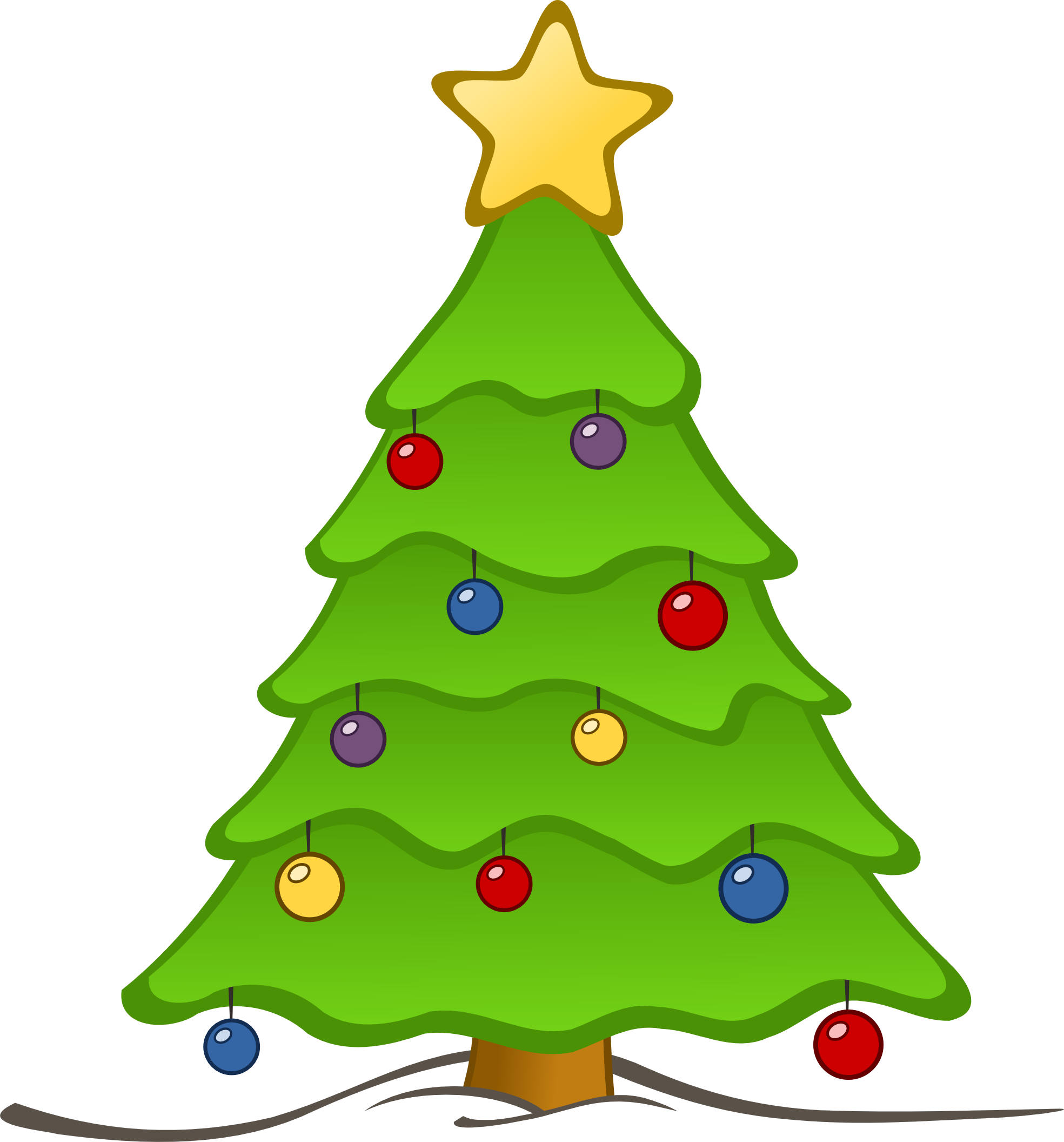 Fancy christmas tree clipart png library Christmas tree artwork clipart - ClipartFest png library