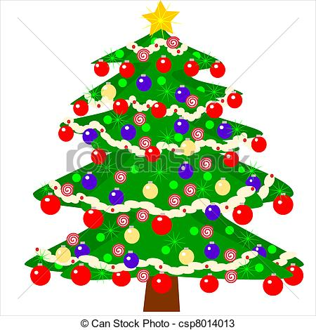 Christmas tree artwork clipart vector royalty free library Vectors of Christmas tree waiting for presents - Illustration of a ... vector royalty free library