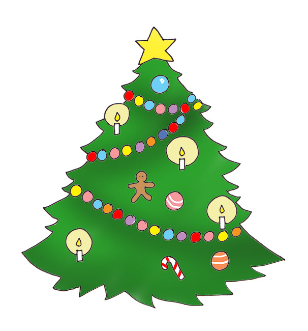 Christmas tree artwork clipart clip free library Christmas tree artwork clipart - ClipartFest clip free library