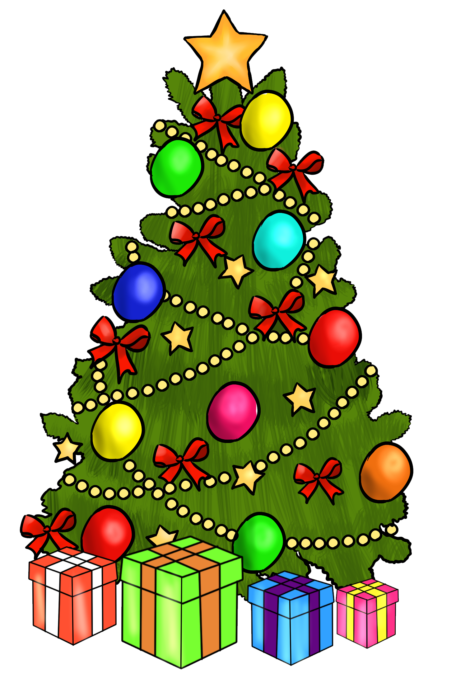 Christmas tree clipart black and white free banner library download Free clip art christmas tree - ClipartFox banner library download