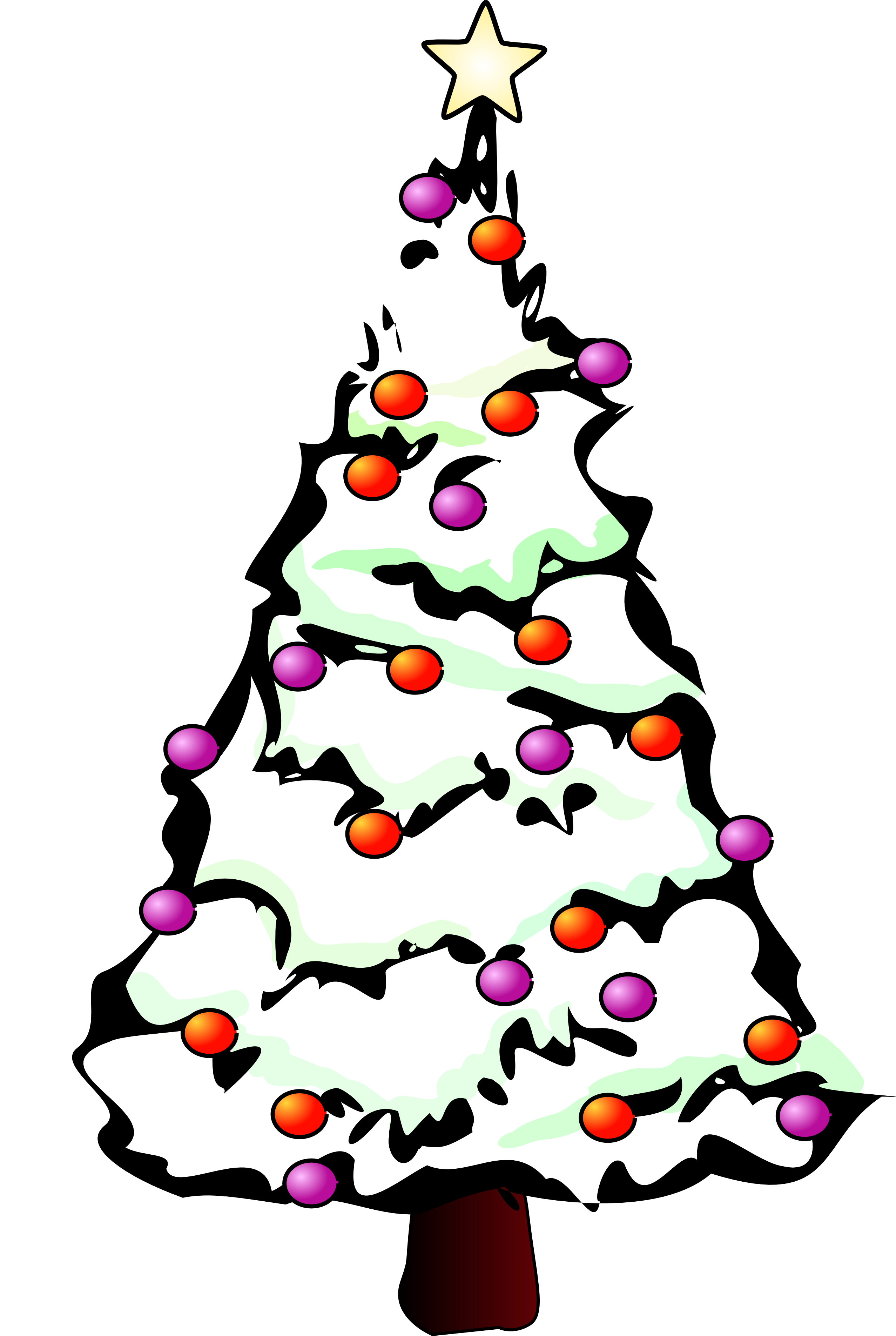 Clipart panda tree svg library Christmas Tree Artwork | Free Download Clip Art | Free Clip Art ... svg library