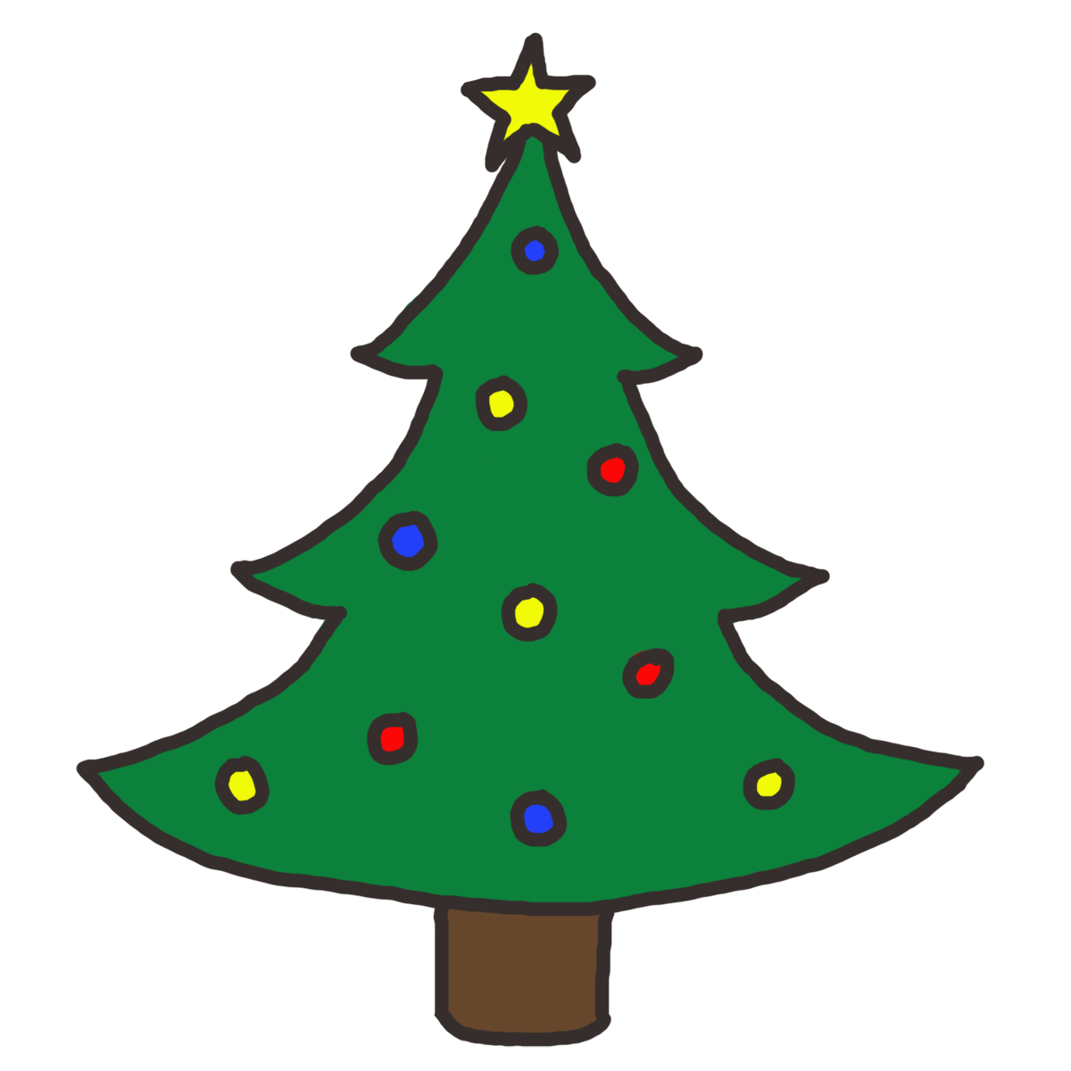 Christmas tree clipart png banner free Christmas tree clip arts - ClipartFox banner free