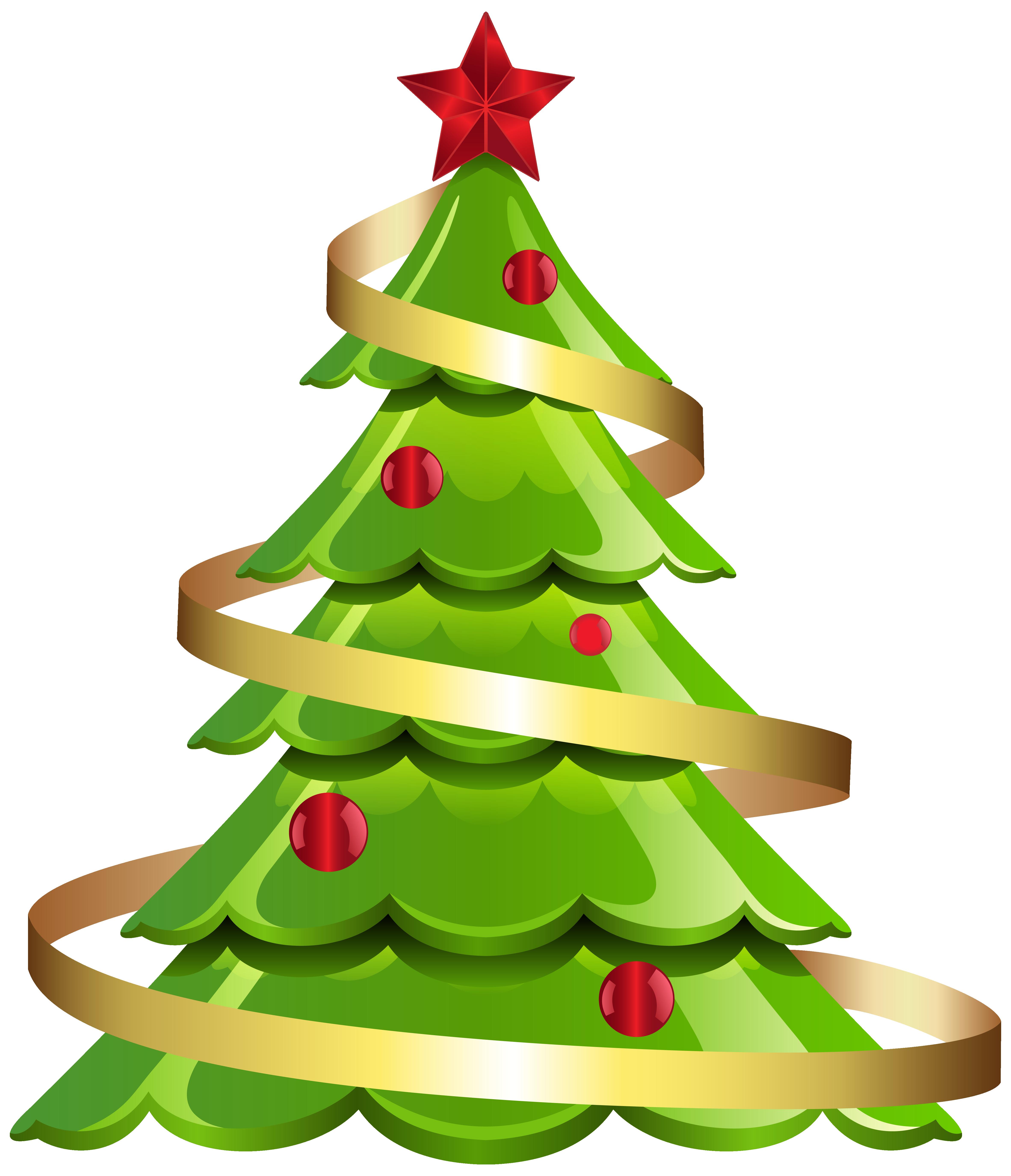 Christmas tree banner clipart jpg free stock Christmas Tree Large PNG Clipart Image | Gallery Yopriceville ... jpg free stock