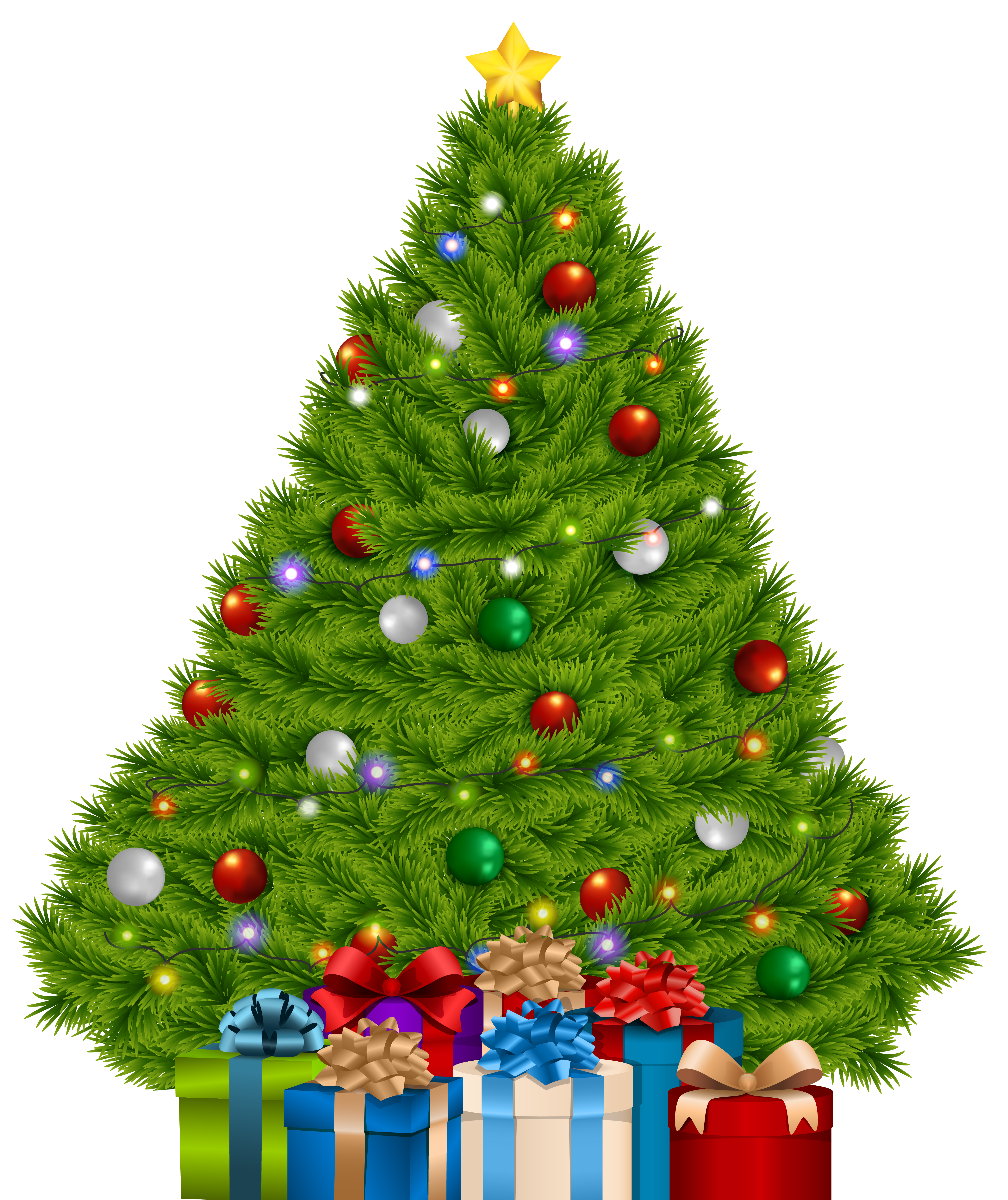 Large christmas tree clipart graphic transparent download Extra Large Christmas Tree with Gifts PNG Clip Art Image | Gallery ... graphic transparent download