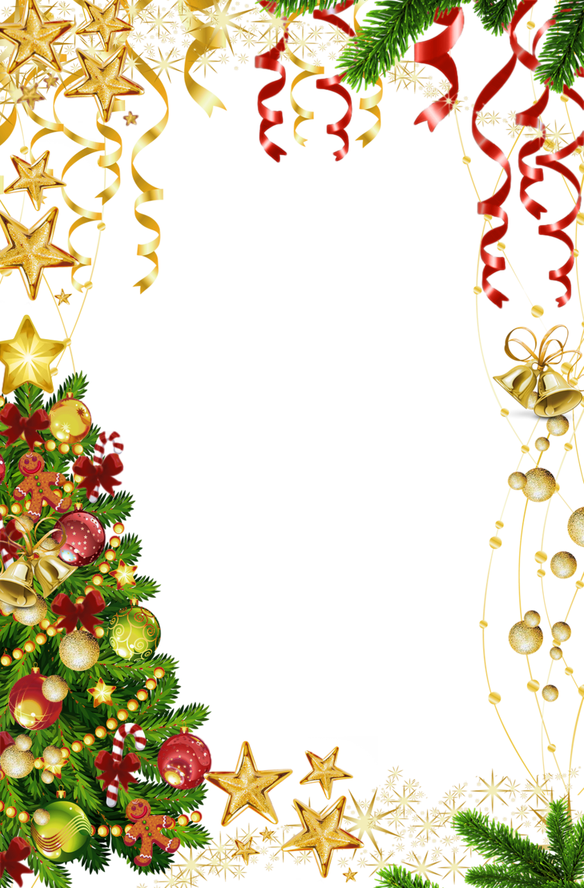 Free christmas clipart borders and frames image free Transparent Christmas Photo Frame with Christmas Tree | Gallery ... image free