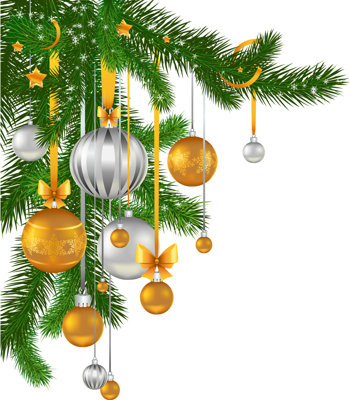 Christmas tree branch clipart svg freeuse Christmas Balls Pine Branch Clipart svg freeuse