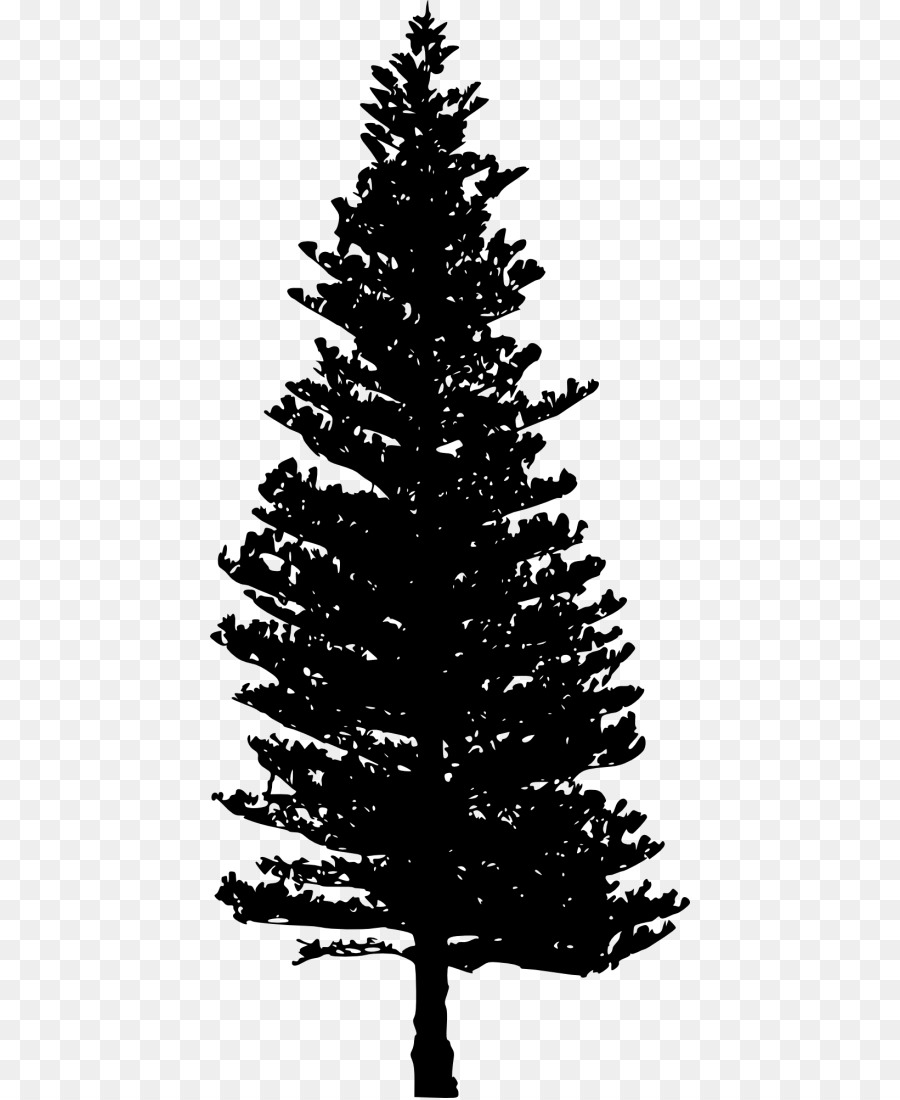 Christmas tree branch clipart black and white picture free download Christmas Black And White png download - 480*1098 - Free Transparent ... picture free download