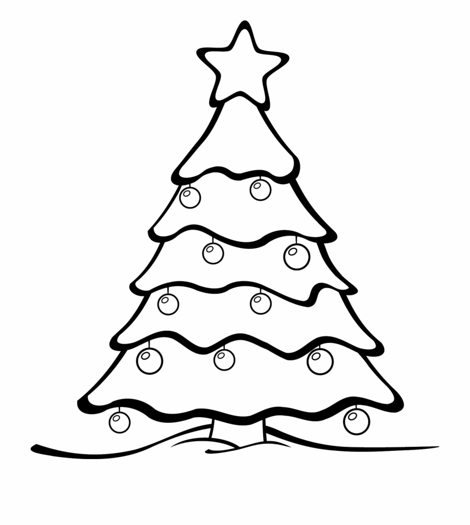 Christmas tree branch clipart black and white image library Merry Christmas Tree Clipart Library Vector Clipart - Colour In ... image library
