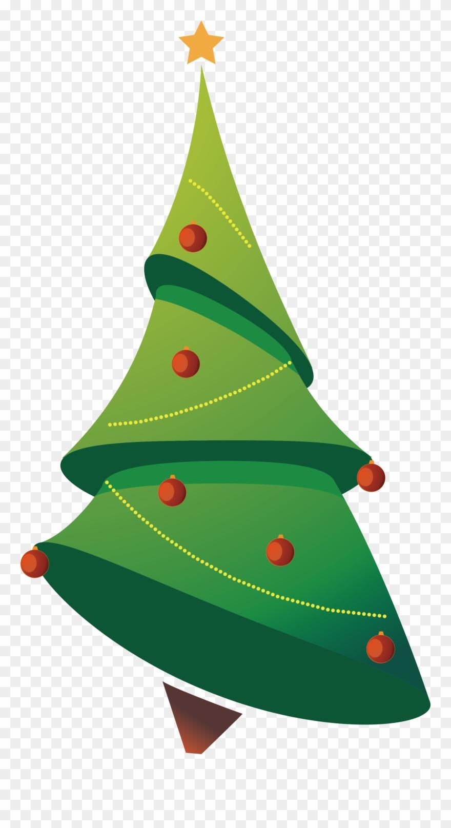 Christmas tree cartoon clipart clip royalty free Tree Clip Art Cartoon - Transparent Christmas Tree Vector - Png ... clip royalty free