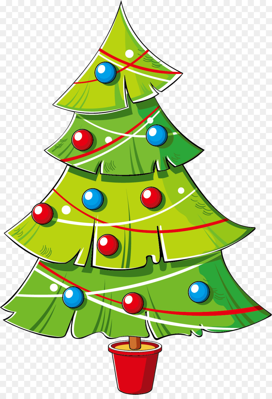 Christmas tree cartoon clipart banner black and white Christmas Tree Animation png download - 1001*1453 - Free Transparent ... banner black and white