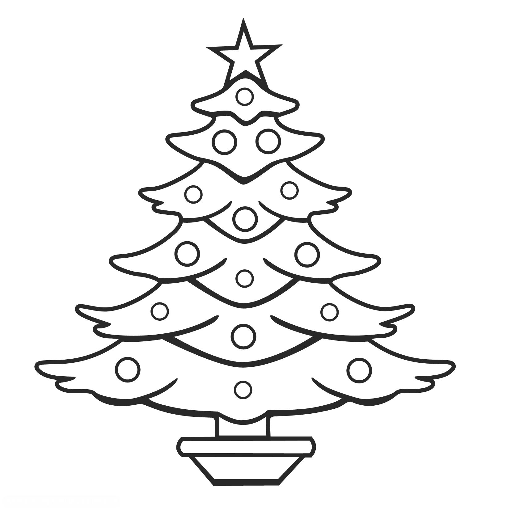 Christmas tree clipart color vector royalty free download cats coloring page christmas tree for printing - Google Search ... vector royalty free download