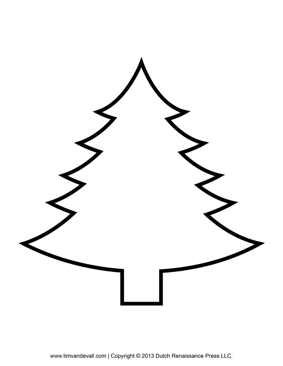 Christmas tree clipart color svg stock Printable Paper Christmas Tree Template Clip Art Coloring Pages ... svg stock