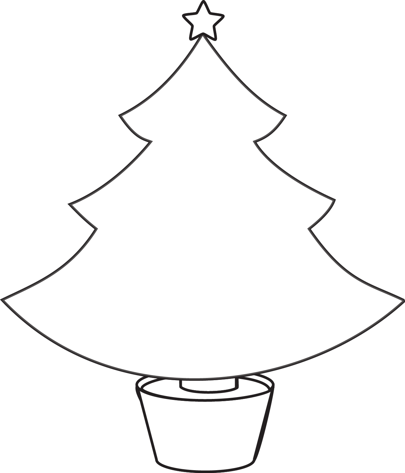 Christmas tree clipart color jpg royalty free download Free Christmas Tree Line Drawing, Download Free Clip Art, Free Clip ... jpg royalty free download