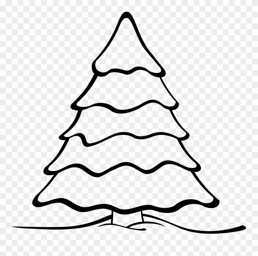 Christmas tree clipart color banner free library Christmas Tree Clipart - Easy Christmas Tree Color Page - Png ... banner free library