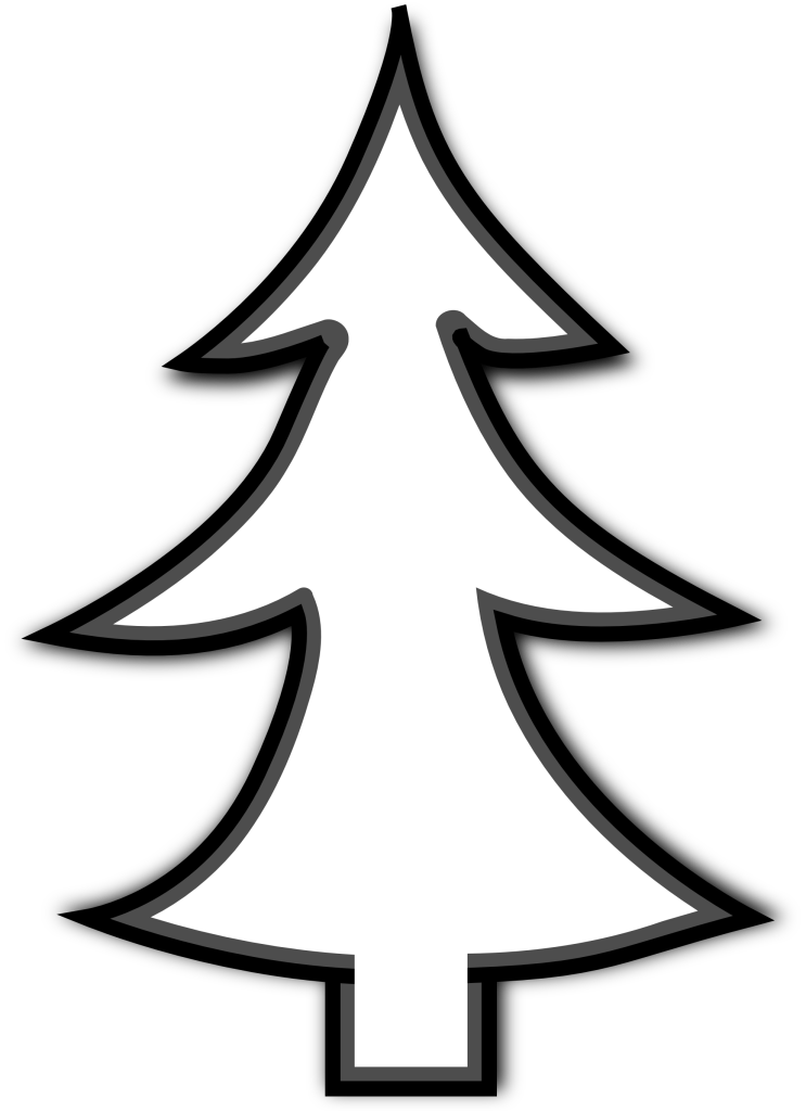 Tree outline clipart black and white library Clip Art Christmas Tree Outline | Clipart Panda - Free Clipart Images black and white library