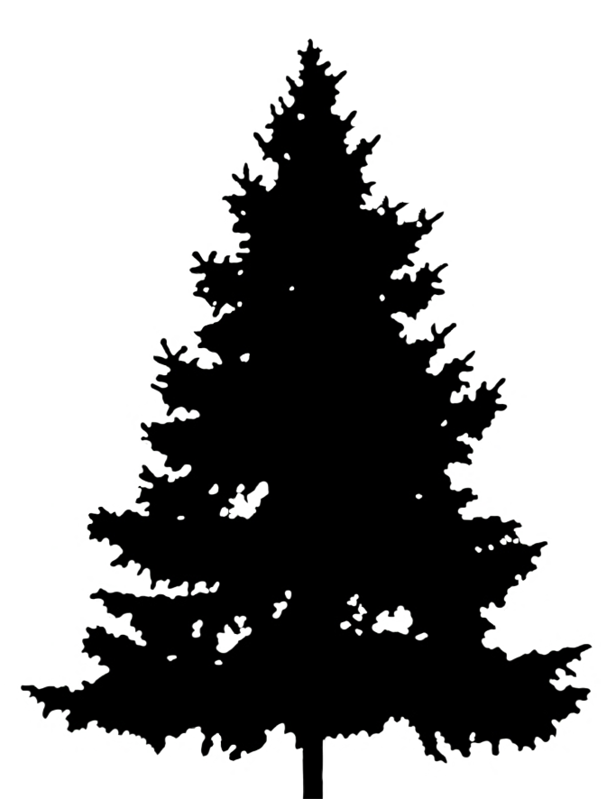 Christmas tree silhouette clipart png library stock Silhouette Graphics png library stock