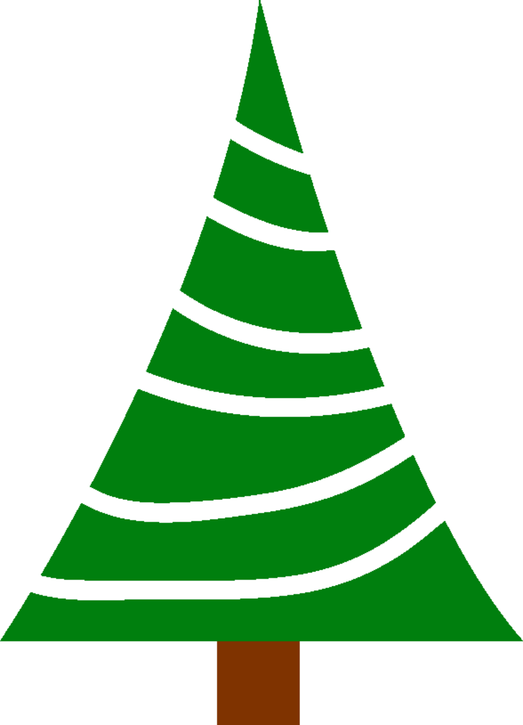 Christmas tree clipart simple picture black and white stock Clipart - Simple christmas tree picture black and white stock