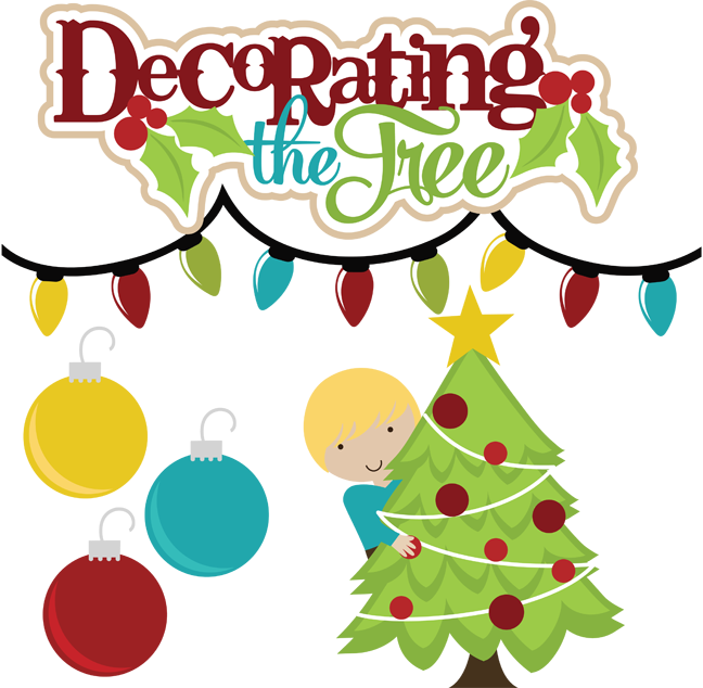 Christmas tree decorating clipart clip art black and white download Decorating The Tree SVG files for scrapbooking christmas svg files ... clip art black and white download