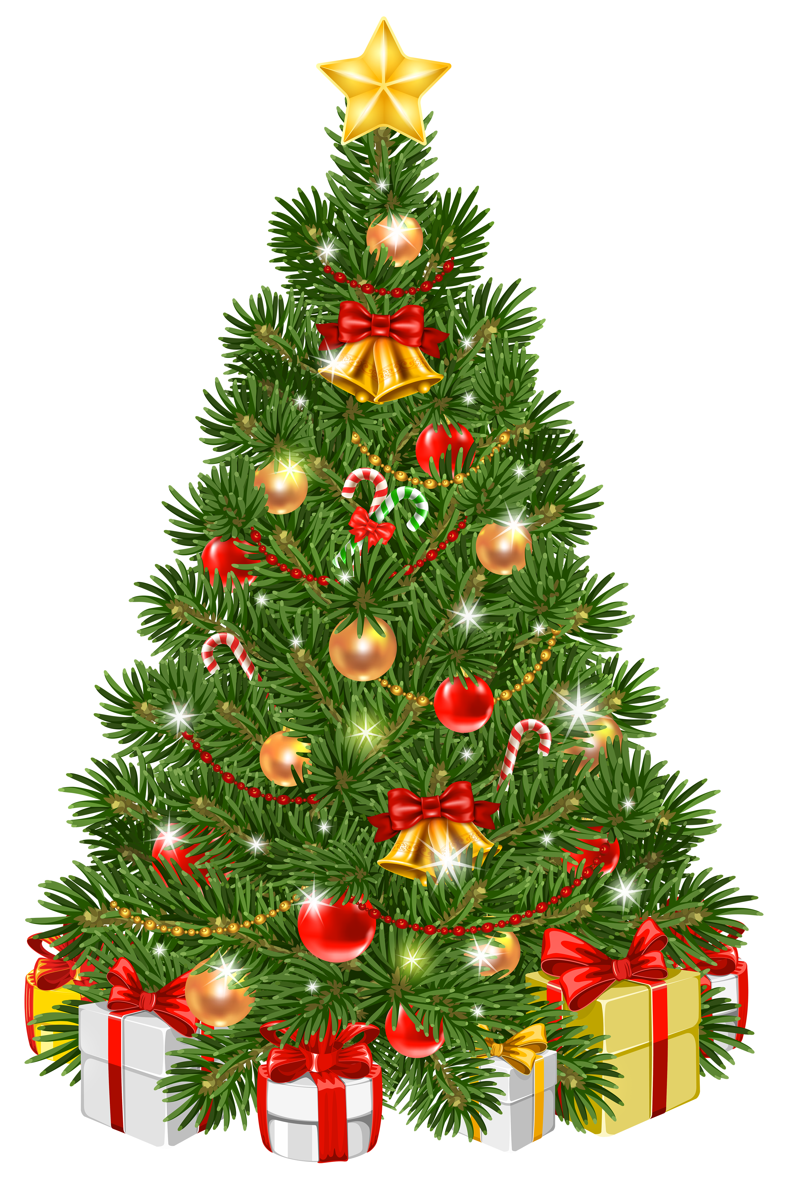 Decorated christmas tree clipart clip art library Decorated Christmas Tree Transparent PNG Clip Art Image | Gallery ... clip art library
