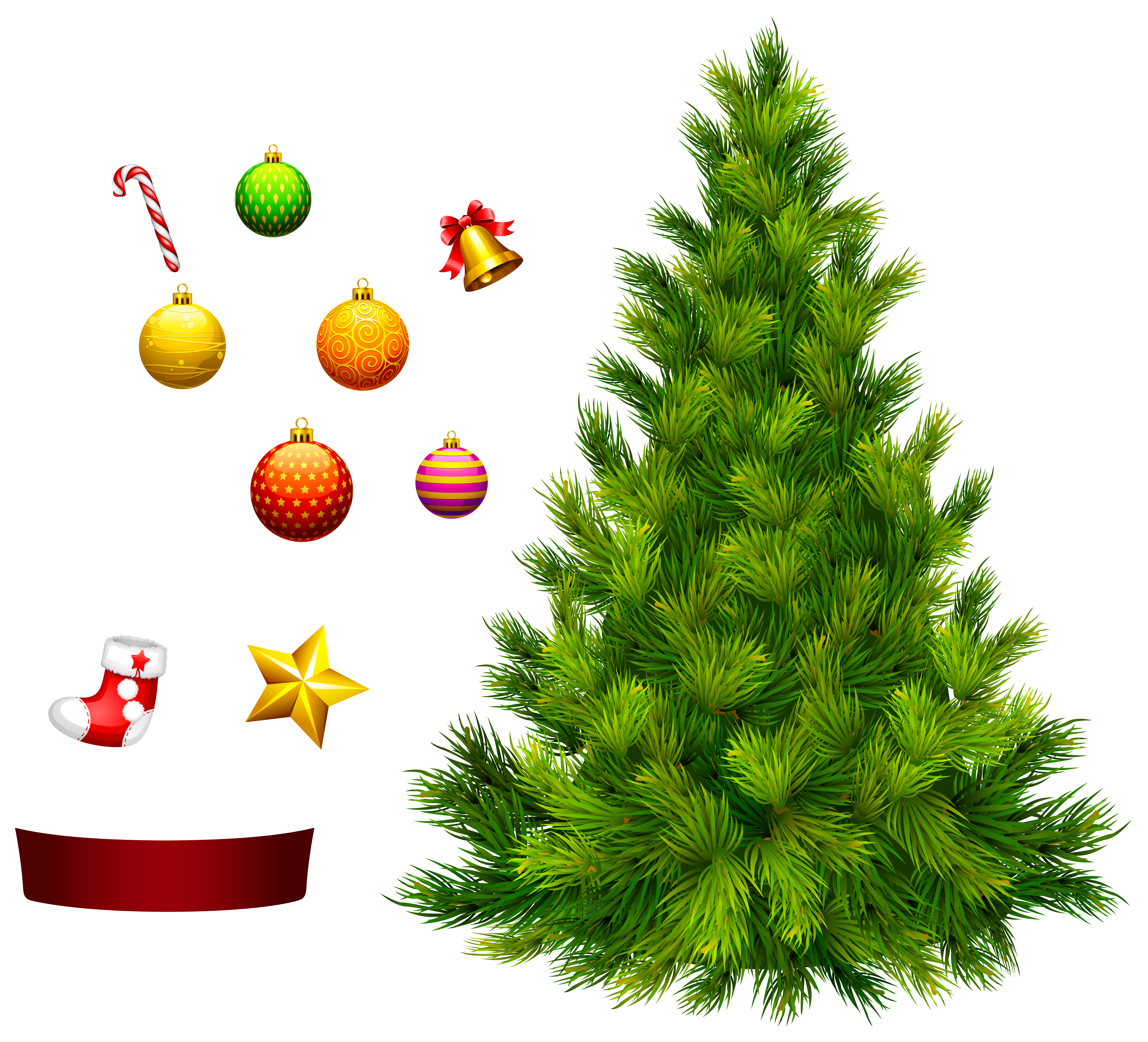 Christmas tree decorating clipart clipart library Xmas Tree for Decoration PNG Clipart | Gallery Yopriceville - High ... clipart library