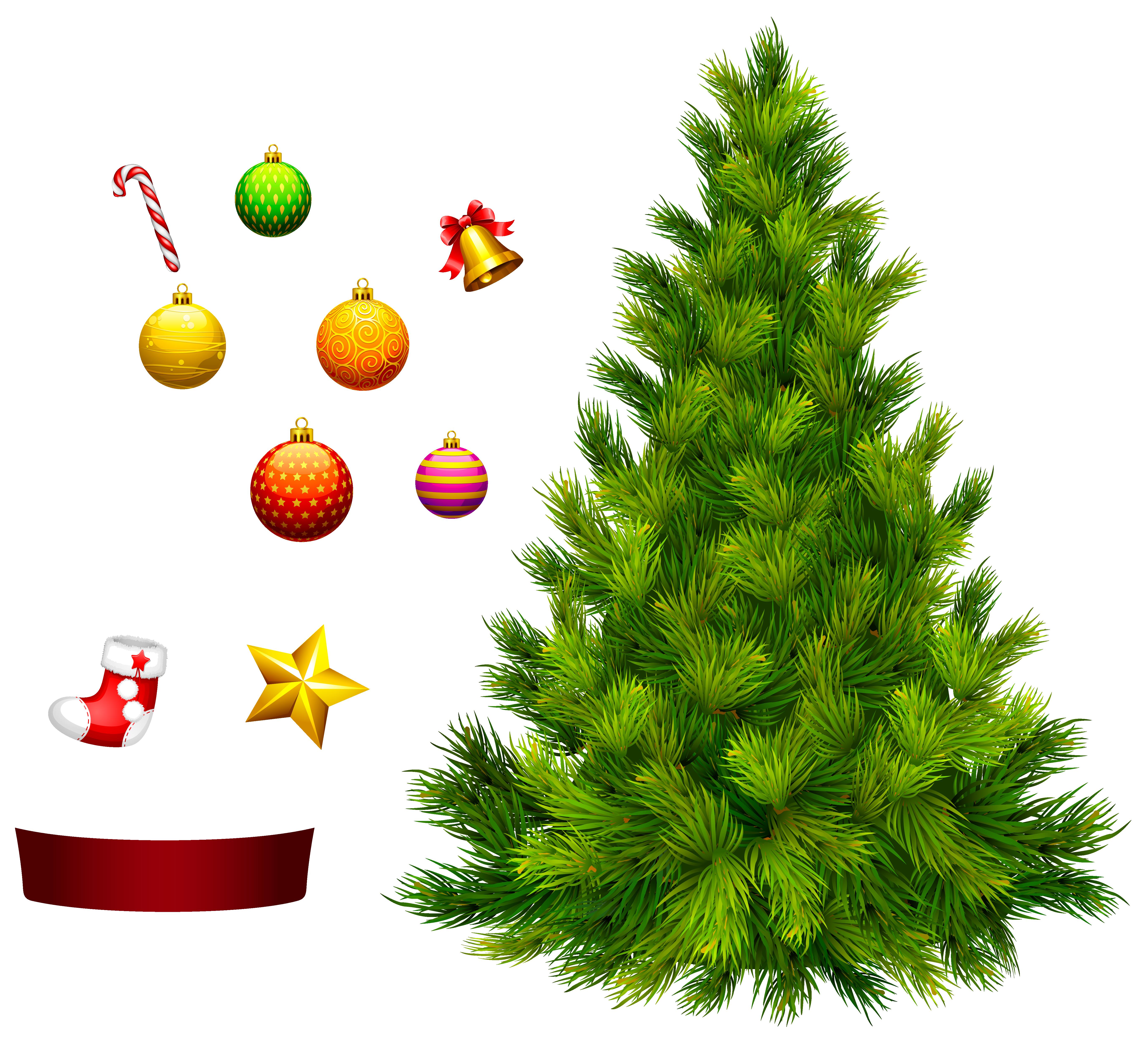 Christmas tree decoration clipart image freeuse download Xmas Tree for Decoration PNG Clipart | Gallery Yopriceville - High ... image freeuse download