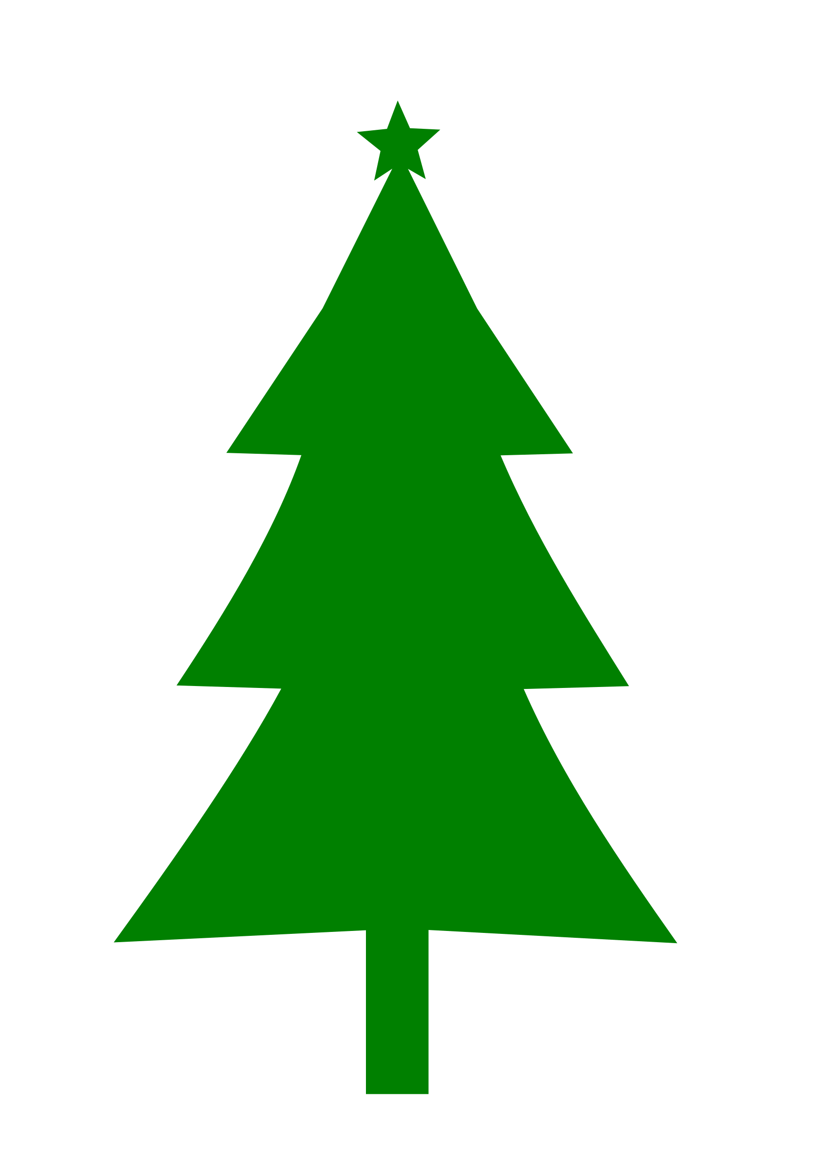 Triangle christmas tree clipart black and white picture royalty free Christmas Trees Silhouette at GetDrawings.com | Free for personal ... picture royalty free