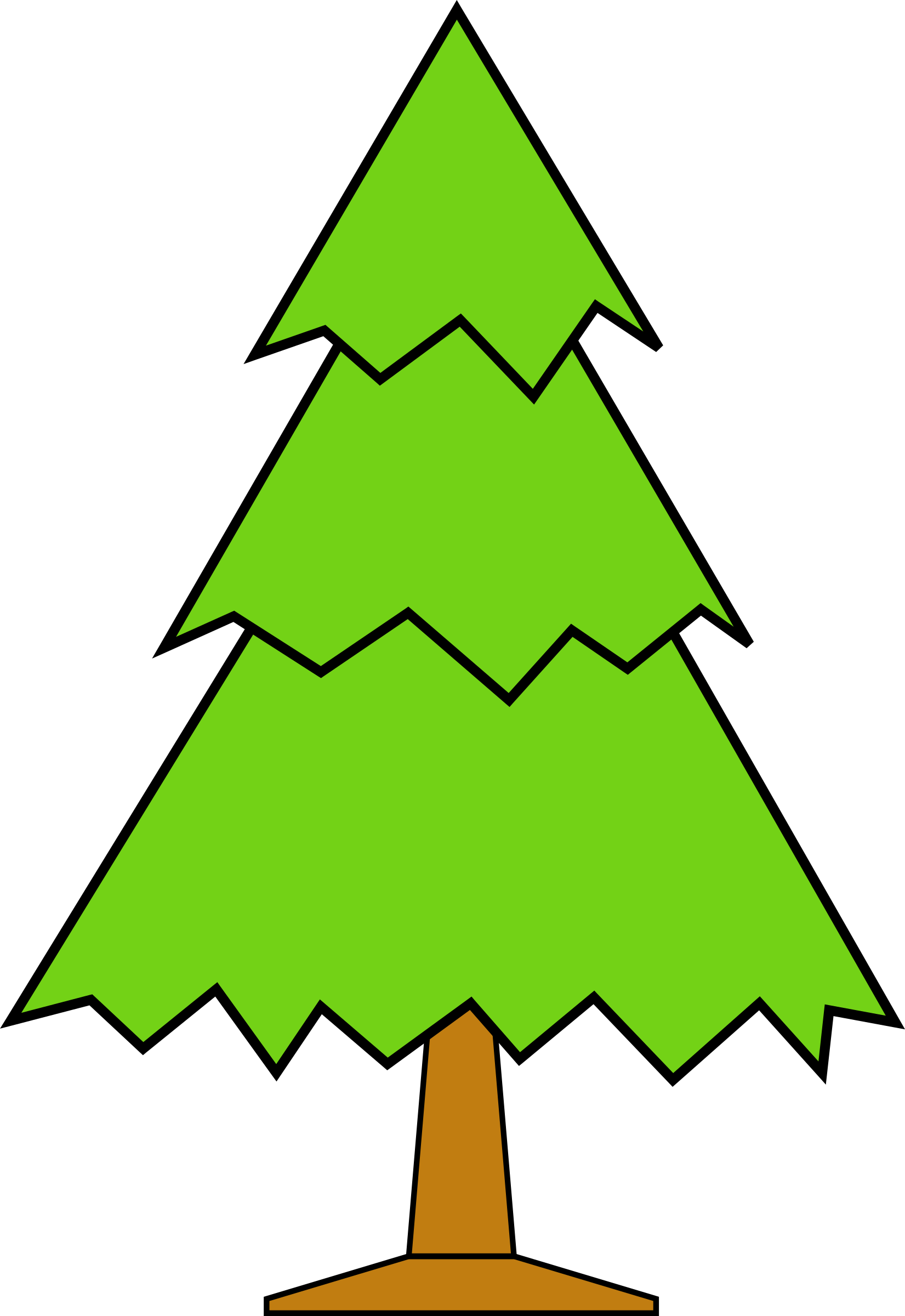 Forest tree clipart svg Clipart - sapin-02 svg