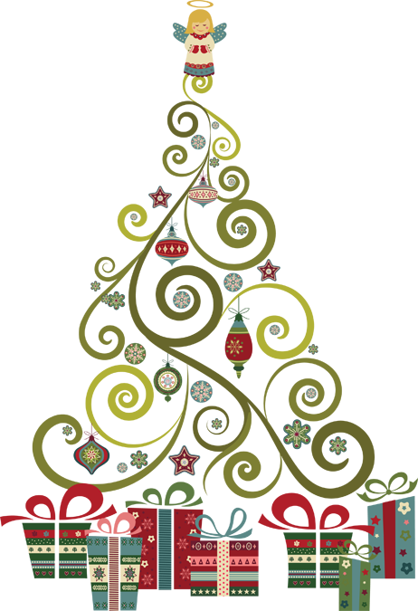Christmas tree graphics clipart jpg royalty free stock A Swirly, Curly Christmas Tree | Holiday | Christmas tree clipart ... jpg royalty free stock