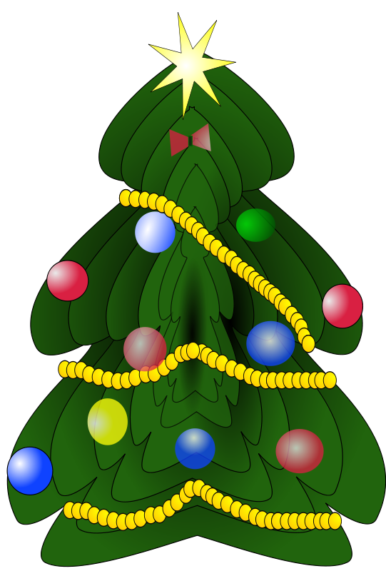 Christmas tree graphics clipart svg download Christmas Tree Clipart - Free Holiday Graphics svg download