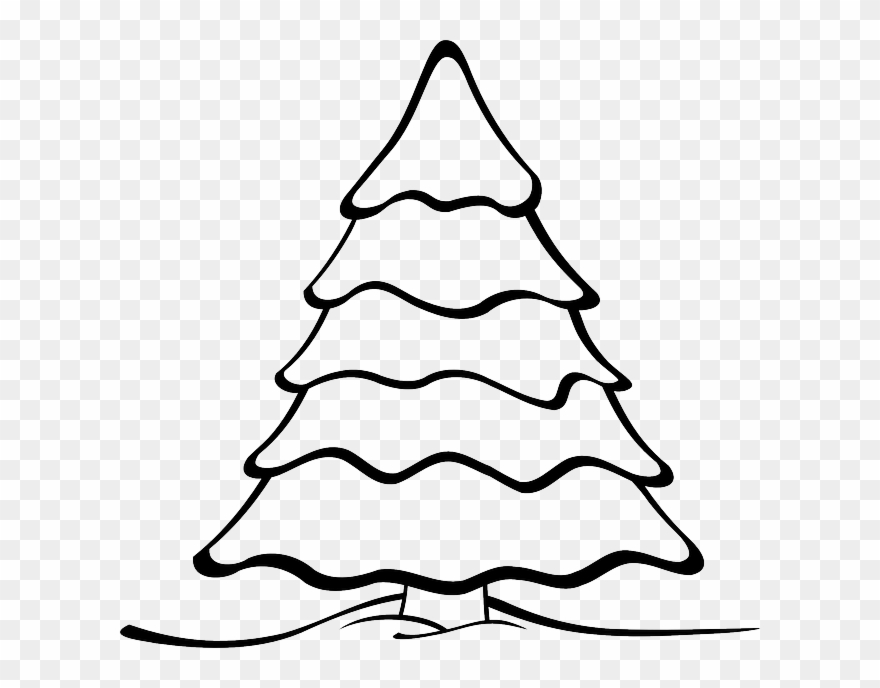Christmas tree ornaments black and white clipart stock Free Vector Graphic - Christmas Tree Black And White Clipart - Png ... stock