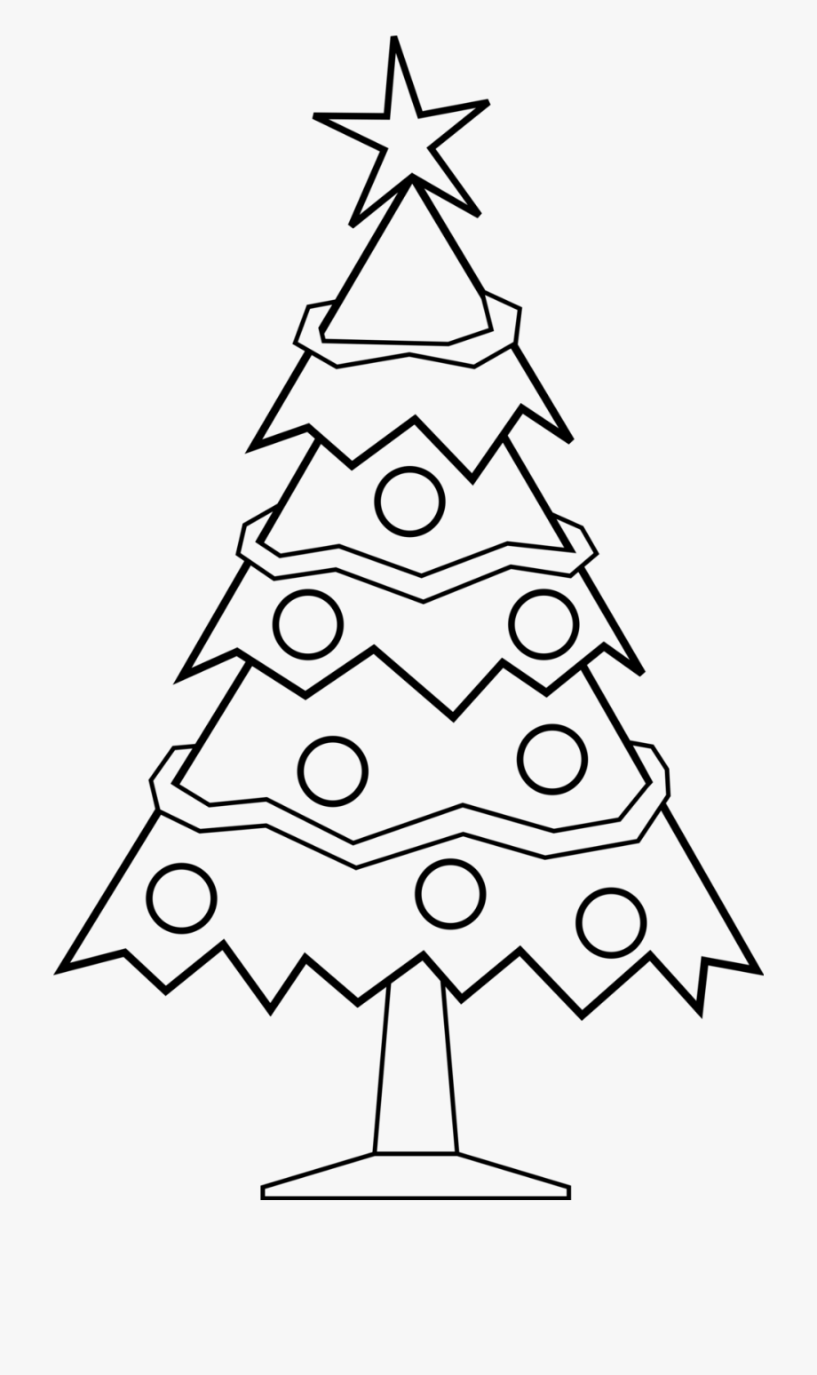 Christmas tree ornaments black and white clipart vector library download Christmas Ornament Black And White Simple Christmas - Christmas Tree ... vector library download