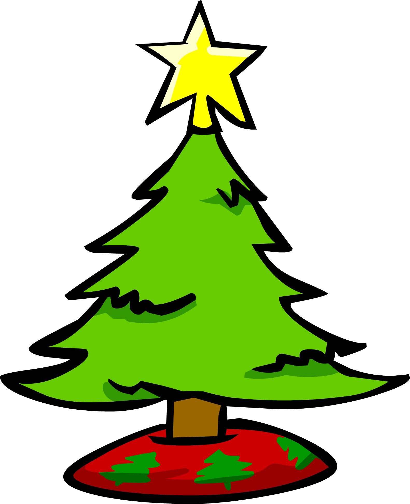 Plain christmas tree clipart clip art black and white download Small Christmas Tree | Club Penguin Rewritten Wiki | FANDOM powered ... clip art black and white download