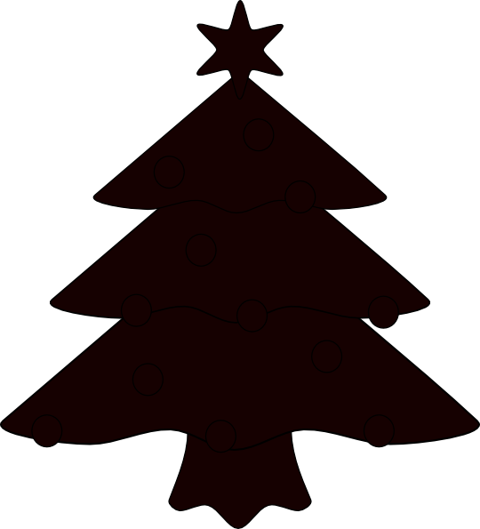 Christmas tree vector clipart jpg royalty free Christmas Tree Sillhouette Clip Art at Clker.com - vector clip art ... jpg royalty free