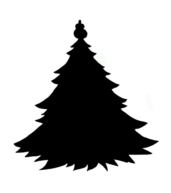 Christmas tree silhouette clipart free banner freeuse stock Free Xmas Tree Silhouette, Download Free Clip Art, Free Clip Art on ... banner freeuse stock