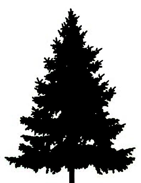 Christmas tree silhouette clipart free jpg freeuse download Free Xmas Tree Silhouette, Download Free Clip Art, Free Clip Art on ... jpg freeuse download