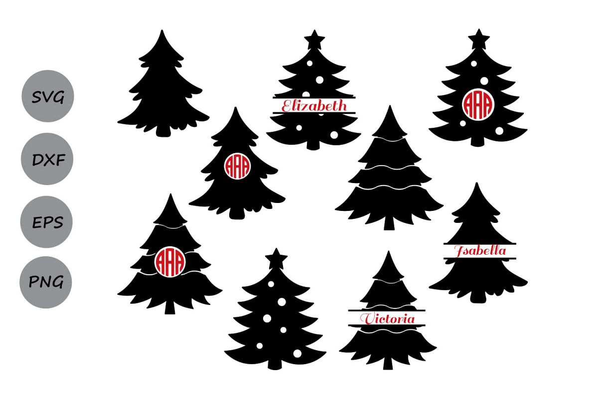 Dresser made from a spruce tree clipart black and white stock Christmas tree svg, Christmas tree Monogram Svg, christmas tree clipart,  christmas tree cut file, Christmas Svg, Christmas tree Silhouette. black and white stock