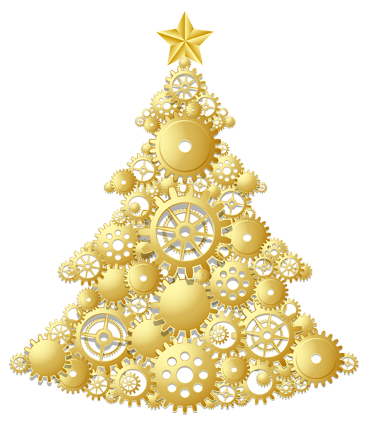 Christmas tree stand clipart clipart Gold Steampunk Christmas Tree PNG Clipart | Christmas Scrapbooking ... clipart