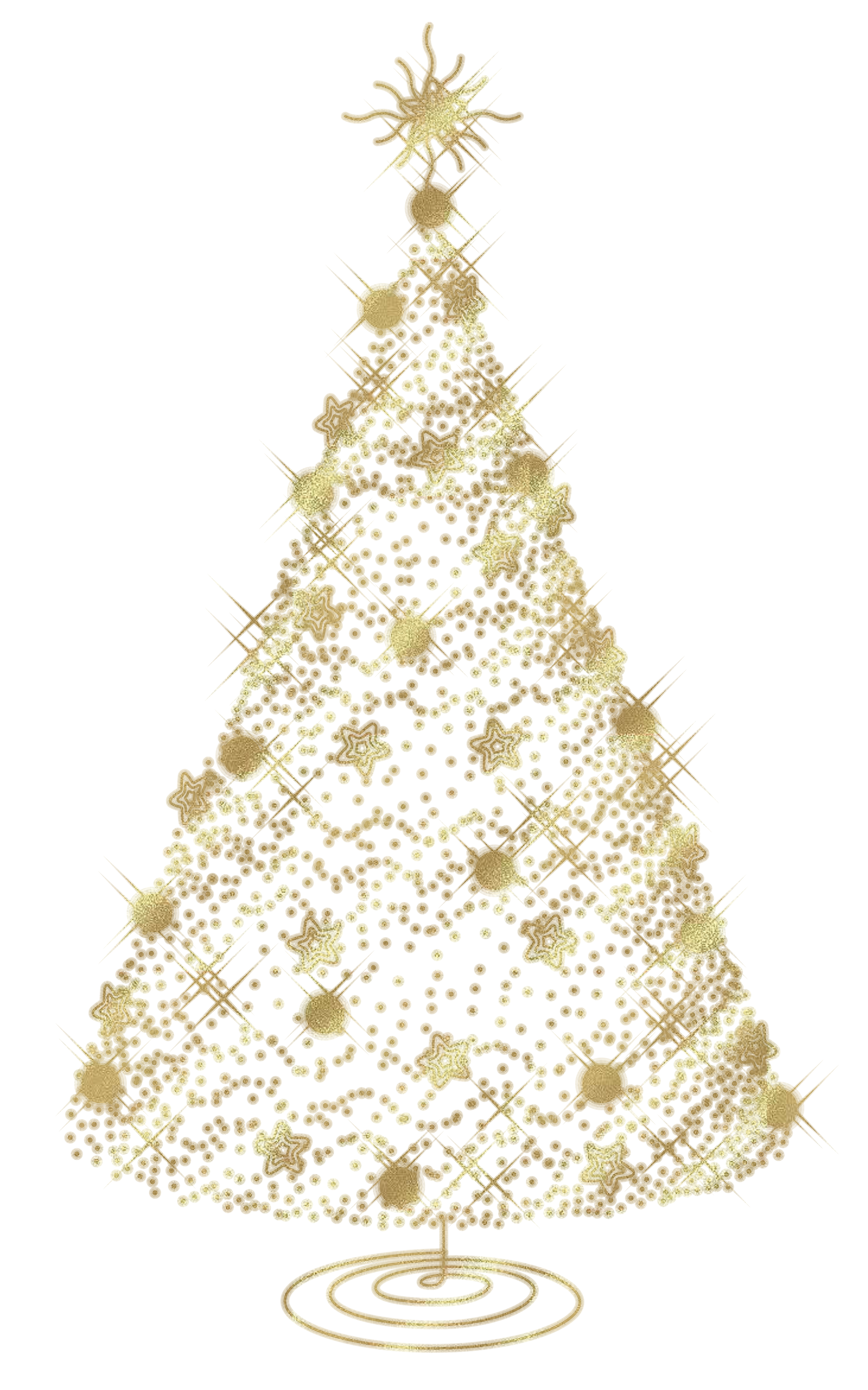Tree topper clipart banner transparent download baby nursery ~ Marvelous Simple Gold Christmas Tree From Stars Stock ... banner transparent download