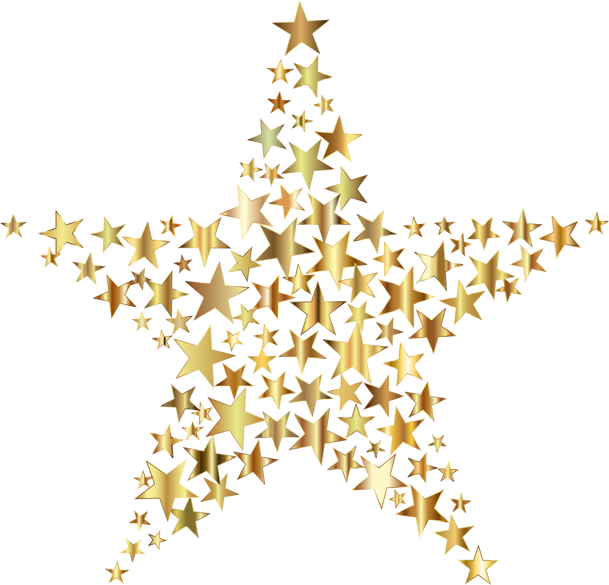 Christmas tree star topper clipart graphic free stock Gold Star Fractal No Background by GDJ   Stardust and Sparkles ... graphic free stock