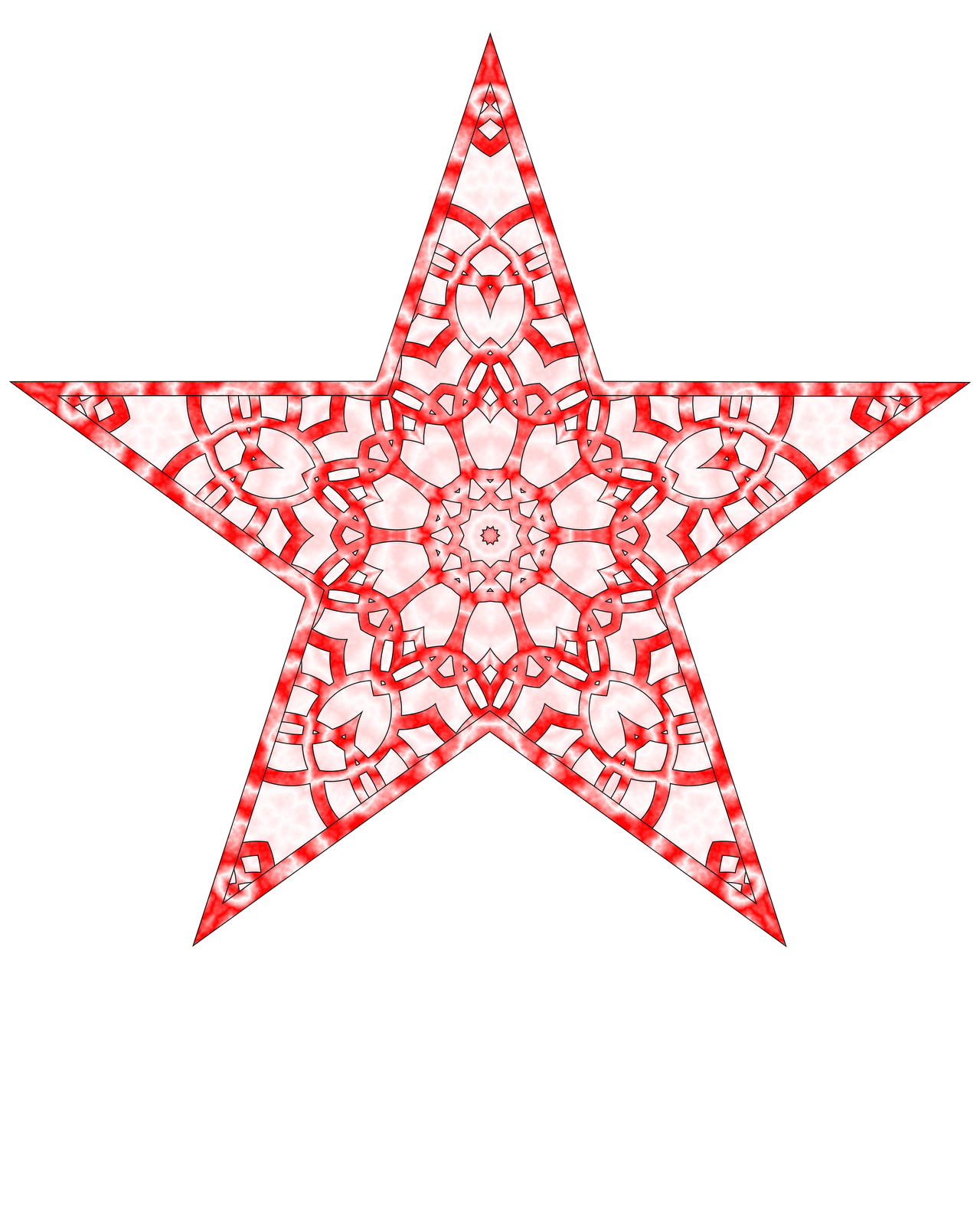 Christmas tree star topper clipart graphic freeuse download Don't Eat the Paste: Printable Paper Star Tree Topper graphic freeuse download