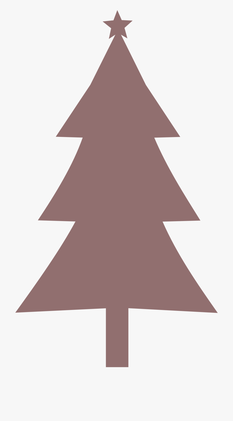 Christmas tree top view clipart royalty free download Christmas Tree Clipart Large - White Christmas Tree Silhouette ... royalty free download