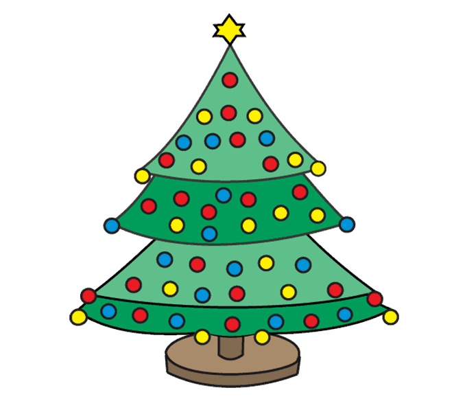 How to draw a tree clipart clip art freeuse stock How to Draw a Christmas Tree | Easy Step by Step Drawing Guides clip art freeuse stock