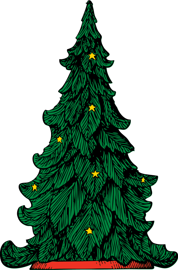 Christmas tree vector clipart banner royalty free Christmas Tree - vector Clip Art - Clip Art Library banner royalty free