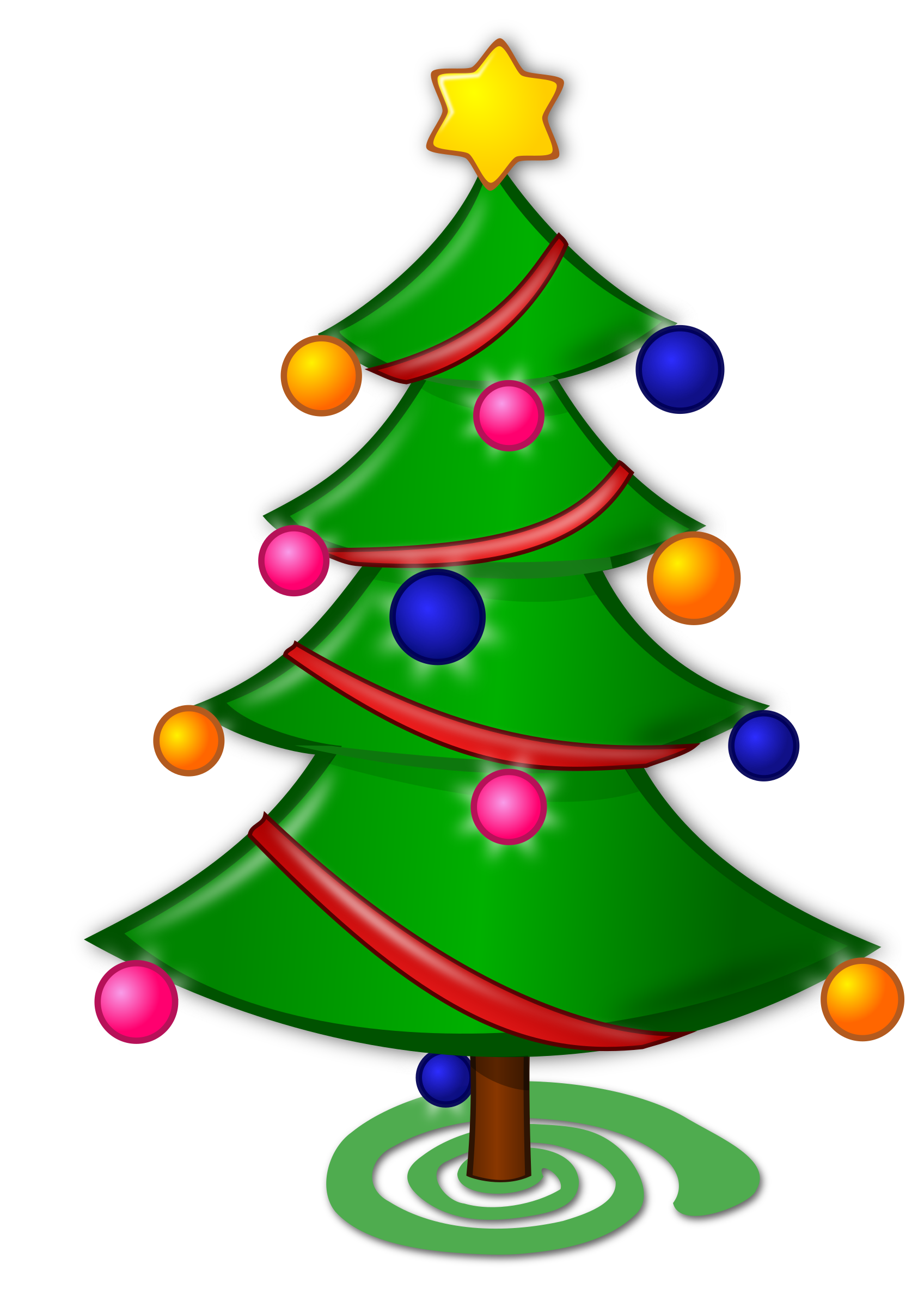Clipart christmas tree clip art black and white Clipart - Colored: Christmas Tree clip art black and white