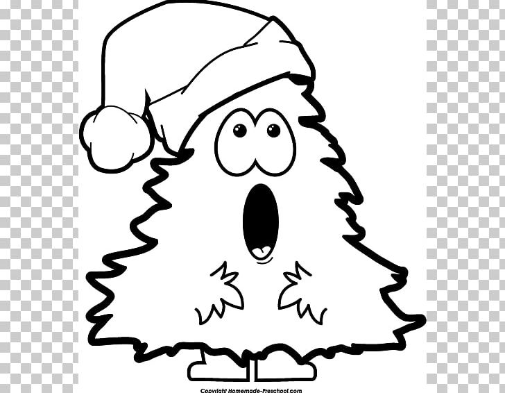 Christmas tree with face black and white clipart banner freeuse library Christmas Tree Santa Claus Black And White PNG, Clipart, Angel ... banner freeuse library