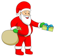 Christmas tree with presents and santa clipart picture free Free Santa Presents Cliparts, Download Free Clip Art, Free Clip Art ... picture free