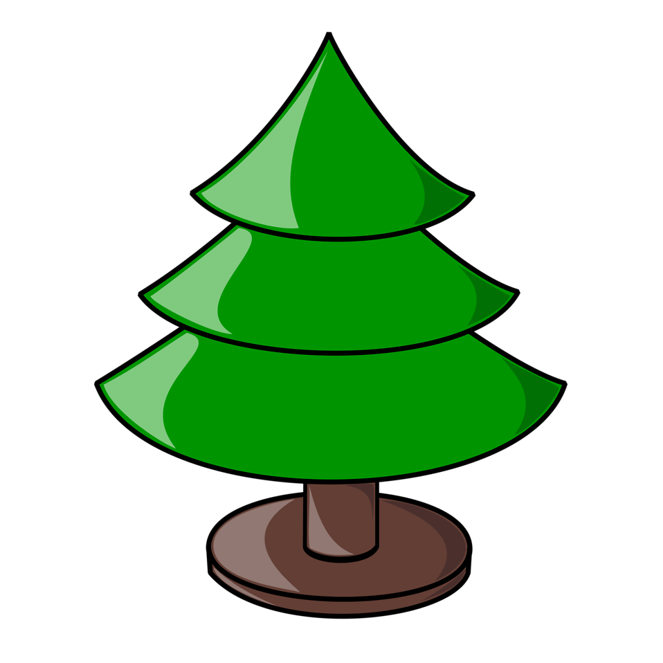 Clipart christmas tree free vector transparent library Christmas Tree | Free Stock Photo | Illustration of a plain ... vector transparent library